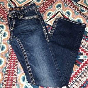 Rock revival dark wash jeans!